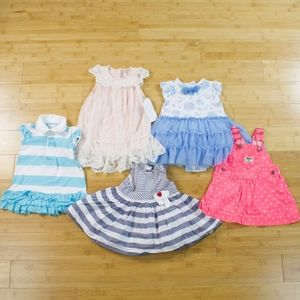 Lot of 5 Size 6 Months Dresses